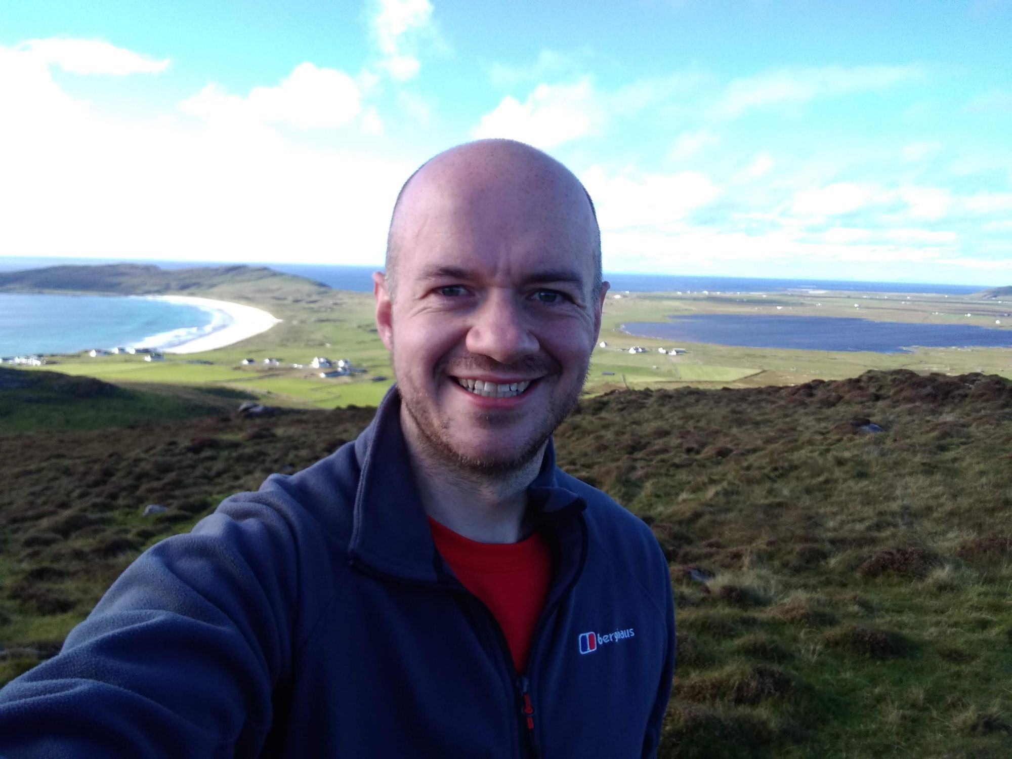 Pete on Tiree hill