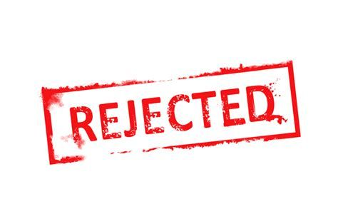 Day 1 + 2 of collecting rejections